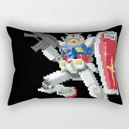 8-bit Gundam Rectangular Pillow
