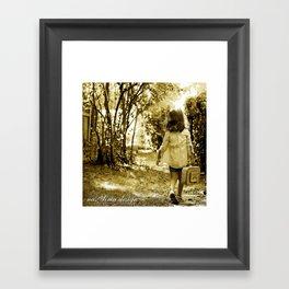 Angel of Hope & Lily Gold Framed Art Print