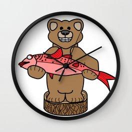 Northwest Bear Wall Clock