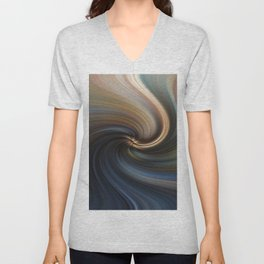 Abstract image composed of colored lines that create spirals, digital art Unisex V-Neck