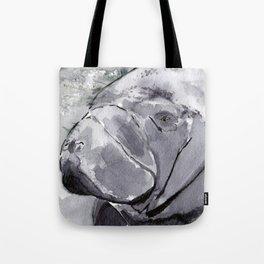 Manatee - Animal Series in Ink Tote Bag