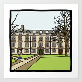 Cambridge struggles: Christ's College Art Print
