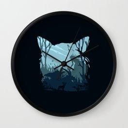 Blue Mono Ashi Wall Clock