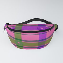 Purple, Pink, and Green Plaid Fanny Pack