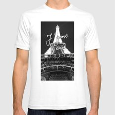 J'aime Paris LARGE Mens Fitted Tee White