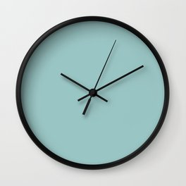 Pastel Turquoise Wall Clock