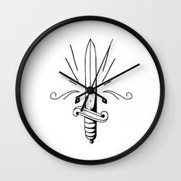 The Dagger Wall Clock