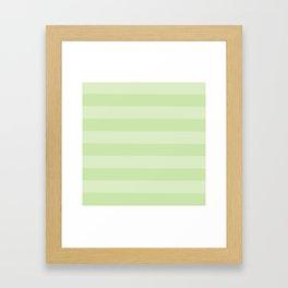 green on green stripes Framed Art Print