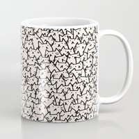 is the new black Mugs featuring A Lot of Cats by Kitten Rain