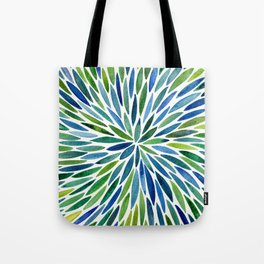 Watercolor Burst – Blue & Green Tote Bag