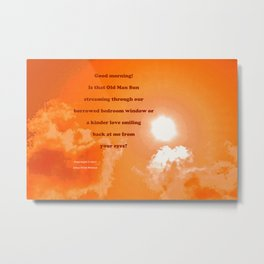 Spring Clouds #6 with poem: A Newer Morning Metal Print