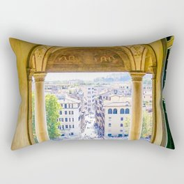 Streets of Echoes:  Rome, Italy Rectangular Pillow