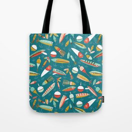 Fishing Lures Blue Tote Bag