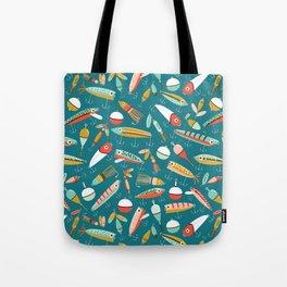 Fishing Lures Blue Tote Bag