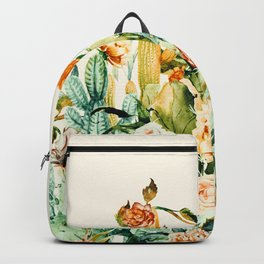 Succulent flowered cactus Backpack