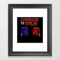 Shadow of the Ninja- Blue Shadow Framed Art Print