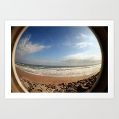 Fisheye Beach (Film) Art Print
