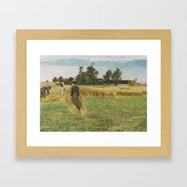 Laurits Andersen Ring 1854 - 1933 DANISH HARVEST TIME, LADBY... Framed Art Print