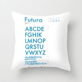 Futura Typography Poster Throw Pillow
