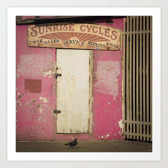 Sunrise Cycles Art Print