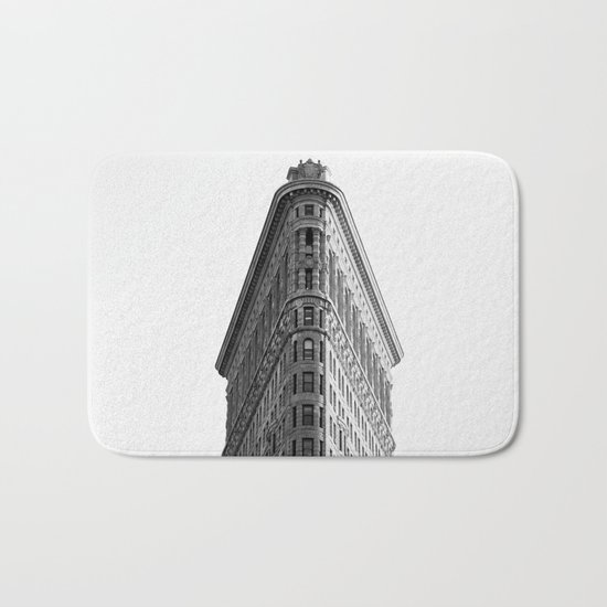 Flatiron Black and White NYC Bath Mat