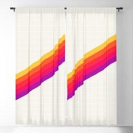 VHS Rainbow 80s Video Tape Blackout Curtain