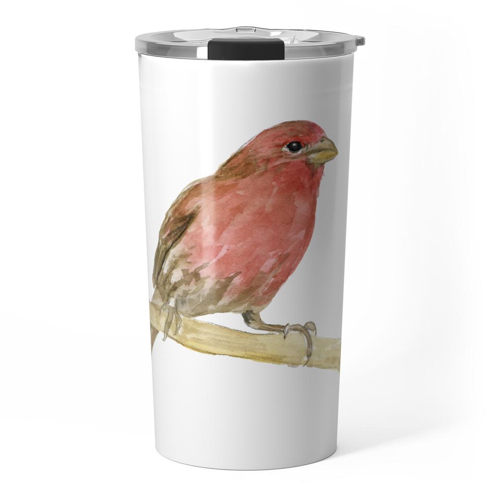 House Finch Bird Watercolor Travel Mug by susanwindsor (TRM11342623) photo
