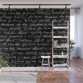 Literary Giants Pattern Wall Mural