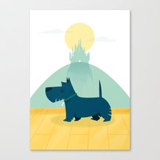 Follow the yellow brick road Canvas Print