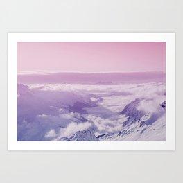 pastel mountainscape #society6 #decor #buyart Art Print