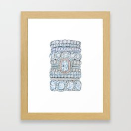 Pink diamonds rings Framed Art Print