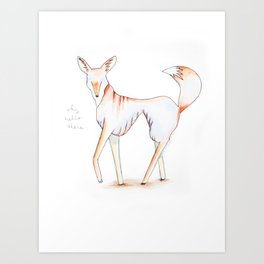 "Le Fox, ""Why Hello There"" Art Print"