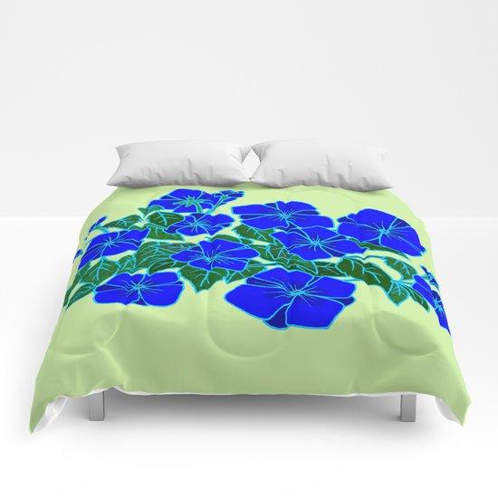 Blue Violets #5 Comforters