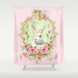 Spring Bunny Shower Curtain