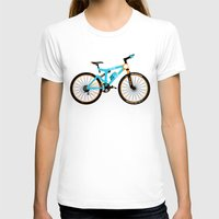 brompton T-shirts featuring Mountain Bike by Wyatt Design