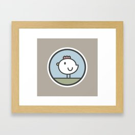 Free Range Chicken Framed Art Print