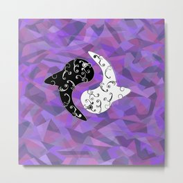 Ying Yang and the White Whale  Metal Print