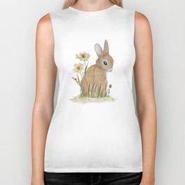 Rabbit Among the Flowers Biker Tank