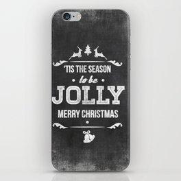 Christmas Chalk Board iPhone Skin