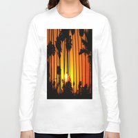 striped Long Sleeve T-shirts featuring Striped Sunset by Flattering Images