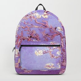 Van Gogh Almond Blossoms Orchid Purple Backpack