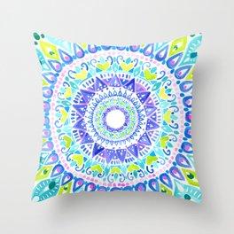 Summer Mandala Throw Pillow