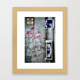 Acceptable Use Policy Violation Framed Art Print