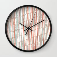 tape Wall Clocks featuring tape by  Ray Athi