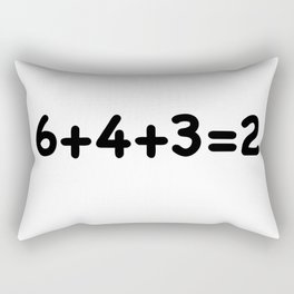 6+4+3=2 Baseball Math Rectangular Pillow