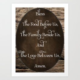 Table Blessing; Prayer Art Print
