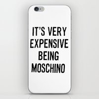 moschino iPhone & iPod Skins featuring It's Very Expensive Being Moschino by RickyRicardo787