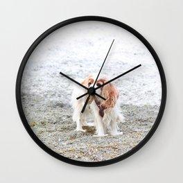 Cavalier vs. Snow Wall Clock