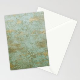 Metallic Effects Oxidized Copper Verdigris Industrial Rustic Stationery Cards