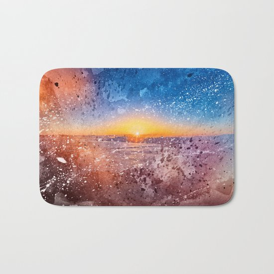 Acrylic San Francisco Sunrise Bath Mat